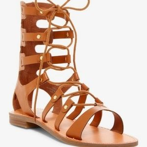 Guess | Hopey Gladiator Lace Up Open Toe Sandal